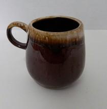 Vintage McCoy Pottery Brown Drip C Handle Coffee Cup Mug Round Body  #70... - $12.75