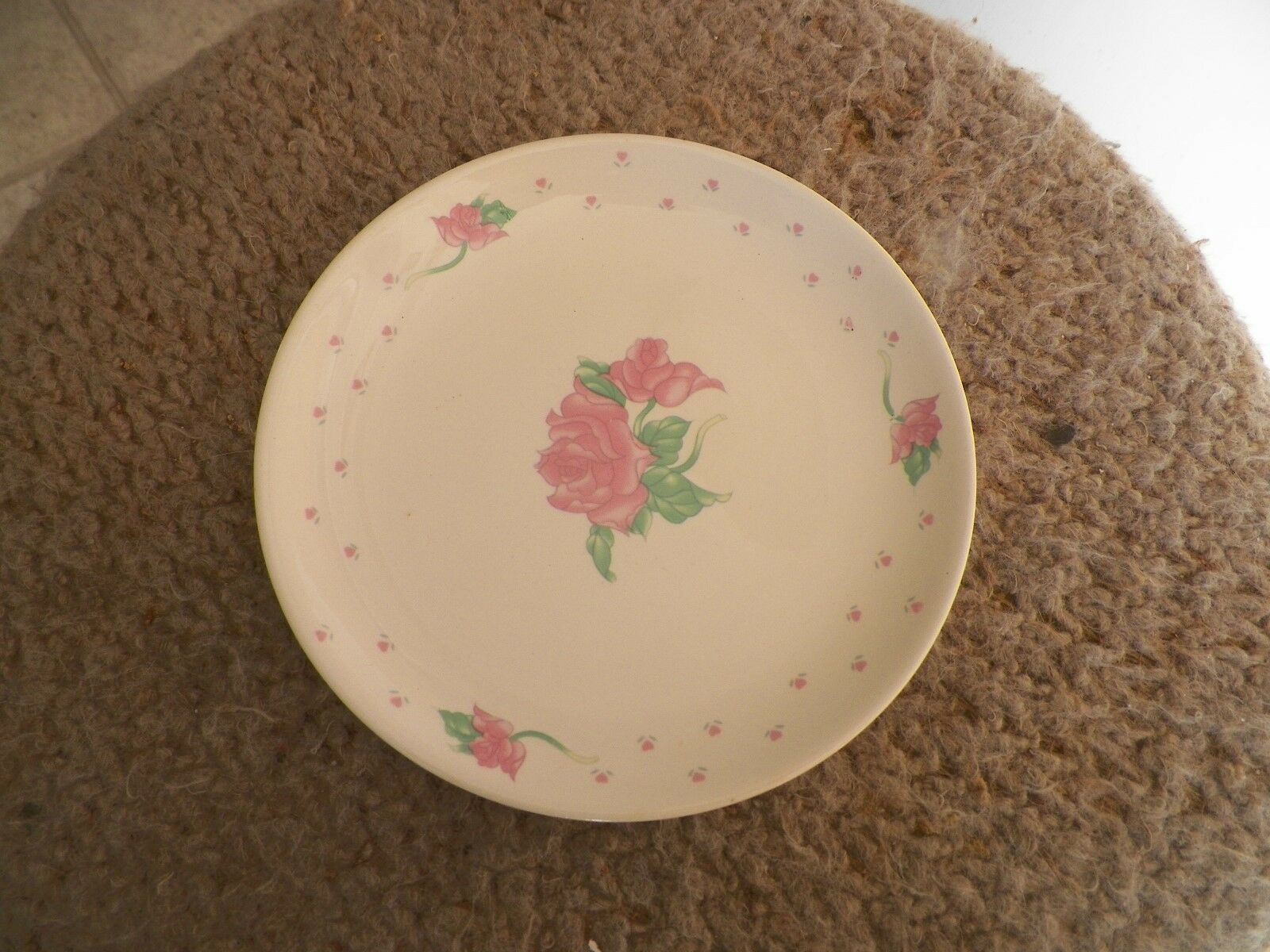 Tabletops Unlimited bread plate (Pink Rose) 4 available - $2.08