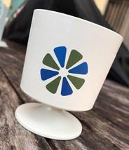 Vintage David Douglas Atomic MCM Plastic Flower Cup Pedestal Mug Americana - $7.70