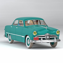 The Ford custom at Sprodj from Destination Moon 1/24 VOITURE TINTIN CARS 2021