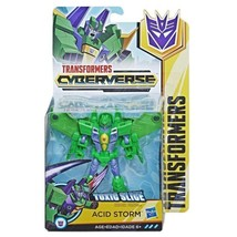 Transformers Cyberverse Acid Storm Toxic Slice Warrior Class