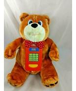 "General Creation Bobby Banker Bear Plush ATM Talks 12"" Stuffed Animal toy - $8.96"