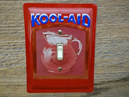 Light Switch Cover Made From Kool Aid Tin For Nostalgic Retro Decor - $30.00