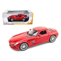 2011 Mercedes SLS AMG Gullwing Red 1/18 Diecast Model Car by Maisto 36196r - $49.10