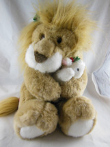 "Vintage Commonwealth The Lion And The Lamb Plush 1994 12"" sitting Cute! Soft! - $19.79"