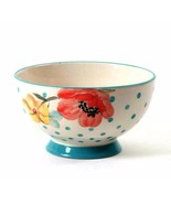 The Pioneer Woman Flea Market Decorated Bowl Blooms Dots One Piece 6 inches - $9.89