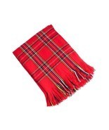 "Woven Checkered Red Throw Blanket with Fringes, 50""X60"", New - £19.29 GBP"