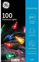 GE 100 Multi-Color Miniature Lights String-A-Long 20.6 ft Party Wedding ... - $7.87