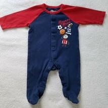 Boy's One Piece Sleeper~  Blue/Red ~ Cotton~  Size 6 Months~  Circo - $8.99