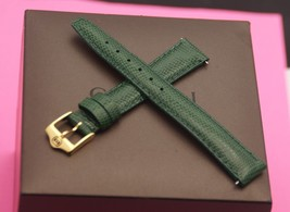 New Gucci 14 MM Lizard Pattern on Genuine Leather Watch Band - Dark Green - $24.95