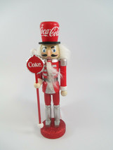Coca-Cola Kurt Adler Wooden Nutcracker Holiday Christmas Ornament - $14.85