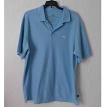 Tommy Bahama Polo Shirt Men Small Blue Cotton Supima Short Sleeve Golf Casual - $19.79