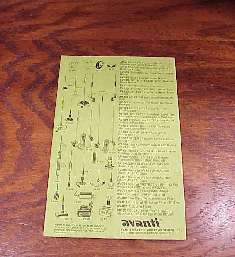 Avanti PDL-II Antenna, model AV-120-2 Instruction Manual