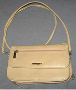 Tan Clutch Purse with strap mirror & cell phone... - $7.00