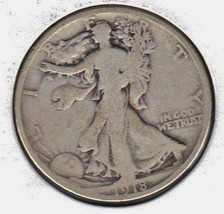 Nice 1918 D Walking Liberty half dollar. - $20.00