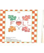 Fall leaves cross stitch chart Mae Lou Designs  - $2.25