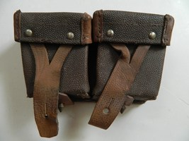Vintage Russian Mosin Nagant Model Leather Dual Ammo Pouch, Very Good Condition! - $13.95