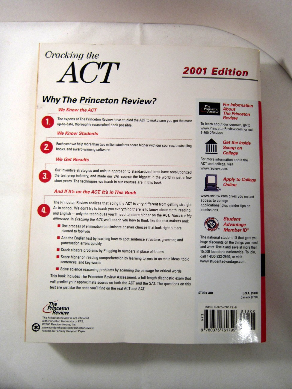 Cracking the ACT 2001 Princeton Review Study Aid image 2