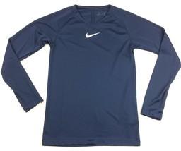 Nike Dry Training Long Sleeve Shirt Youth Unisex M Navy Blue Top Dri-FIT... - £16.41 GBP