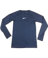 Nike Dry Training Long Sleeve Shirt Youth Unisex M Navy Blue Top Dri-FIT... - £16.51 GBP