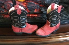 Texas All American Made Leather Western Cowboy Boots Red Black Sz 4.5 D ... - £15.15 GBP