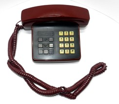 2 Line Phone Vintage Red PACTEL Model Classic Plus R674 SF Telequest 6ft... - $10.69