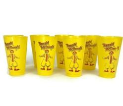 Lot of 8 Vintage Ronald McDonald McDonald's Restaurants Yellow Plastic Cups - $27.91