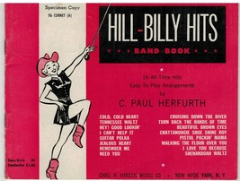 Hill-Billy Hits ~ Band Book Bb Cornet ~ 16 Songs ~ Herfurth ~ Sheet Musi... - $17.77