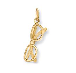 Yellow gold plated sunglasses charm pendant