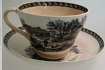 1940s Wedgewood Country Gentry Gentlman Dog PORCELAIN TEACUP