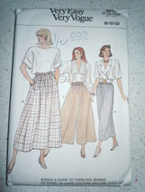 Vintage Very Easy Very Vogue Misses Size 8-12 Skort & Culottes  #9813 New 1987 - $6.99