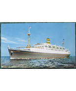 Holland-America Line, full bleed post card, SS RYNDAM, 1950 - $7.00