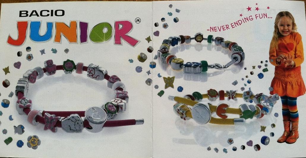 Biagi Kids Black Rubber European Bead Bracelet with Silver Lock Italian Beads