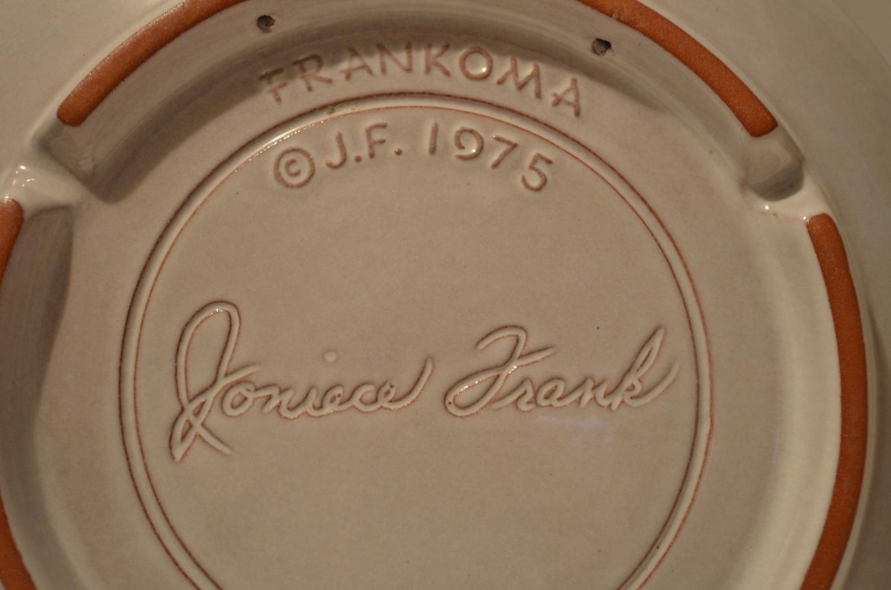 Vintage Frankoma 1975 Peace On Earth Christmas Plate