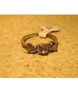 RING WOMEN'S FAUX WHITE TOPAZ TRIPLE RING SIZ... - $9.99