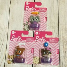 Mattel BARBIE PETS Bunny, Kitten, Puppy Animals with Basket & Accessory ... - $9.74