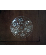 Crystal Footed Candy Dish Starburst Design  - $5.00