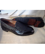Botany 500 Men's Leather Dress Shoe Size 7.5 M  Black - $49.99