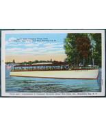 "Curt Teich, Tinted Half-tone postcard, tour boat, ""Uncle Sam - $7.00"