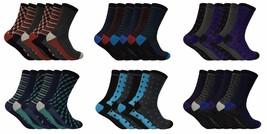 Homme 6 paires de chaussettes en coton fantaisie coloré respirant avec motifs - $9.26