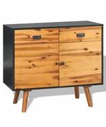 vidaXL Solid Acacia Wood 2 Door 2 Drawer Sideboard Side Cabinet Storage ... - $201.99