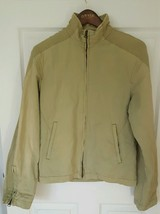 Womens Guess Jeans Light Olive Green Zip up Military style Utility Jacke... - $12.82