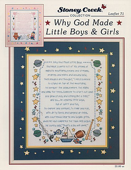 Why God Made Little Boys & Girls L071 cross stitch chart Stoney Creek