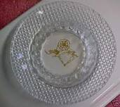Crystal Sewing Spinning Wheel Ashtray Vintage
