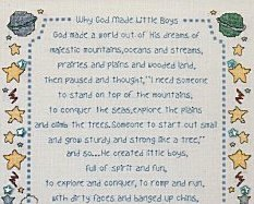 Why God Made Little Boys & Girls L071 cross stitch chart Stoney Creek image 2