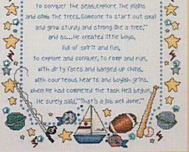 Why God Made Little Boys & Girls L071 cross stitch chart Stoney Creek image 3