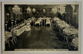 VTG Advertising Postcard Air Condition Georgian Room Hotel Piccadilly, N... - $9.75