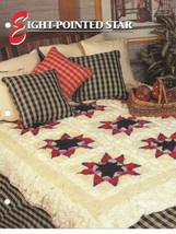 Annies Crochet Quilt Afghan Club Eight-Pointed Star Afghan Crochet Pattern  - $8.50