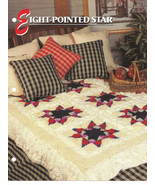 Annies Crochet Quilt Afghan Club Eight-Pointed Star Afghan Crochet Pattern  - $8.50