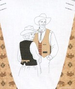 GRAND TETON Unisex Adult WESTERN VEST Fabric Panel L-XXL - $9.99